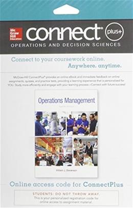 Operations Management, by William, 12th Edition ACCESS CODE ONLY 12 PKG 9780077640354