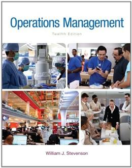 Operations Management, by Stevenson, 12th Edition 9780077640415