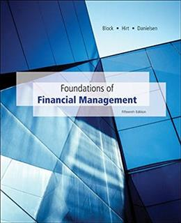 Foundations of Financial Management, by Block, 5th Edition, Casebook 9780077641344