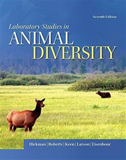 Laboratory Studies  for Animal Diversity, by Hickman, 7th Edition 9780077655174
