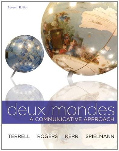 Deux mondes, by Terrell, 7th Edition 9780077684037
