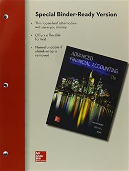 Advanced Financial Accounting, by Christensen, 11th Edition 9780077722166