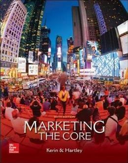 Marketing: The Core (Access code not included) 6 9780077729035