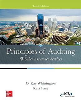 Principles of Auditing & Other Assurance Services (Irwin Accounting) 20 9780077729141