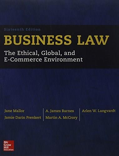 Business Law 16 9780077733711