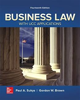 Business Law with UCC Applications 14 9780077733735