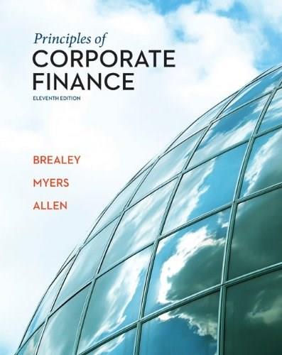 Principles of Corporate Finance, by Brealey, 11th Edition 11 PKG 9780077736569