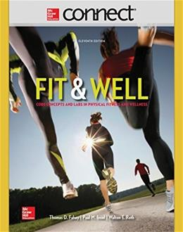 Fit and Well, by Fahey, 11th Edition, ACCESS CODE ONLY 11 PKG 9780077770372