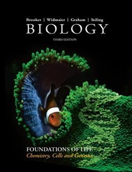 Biology, by Rooker, 3rd Edition, Volume 1: Chemistry, Cells and Genetics 9780077775834