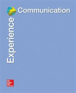 Experience Communication, by Child, Connect Plus Access Code Only PKG 9780077794019