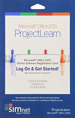 Office 2013, Coulthard SIMbook, by Inc. Triad Interactive, Office Suite Registration Code ONLY PKG 9780077801212