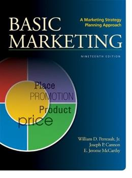 Basic Marketing: A Marketing Strategy Planning Approach, by Perreault, 19th Edition 19 PKG 9780077801946
