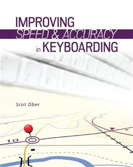 Improving Speed and Accuracy in Keyboarding, by Ober 1PKG 9780077804749