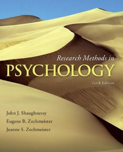 Research Methods in Psychology 10 9780077825362