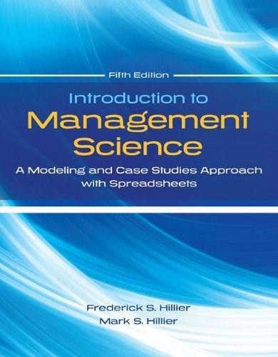 Introduction to Management Science with Student CD and Risk Solver Platform Access Card: A Modeling and Cases Studies Approach with Spreadsheets 5 PKG 9780077825560