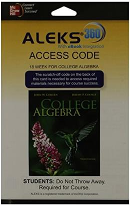 ALEKS 360, by Coburn, 3rd Edition, ACCESS CODE ONLY 3 PKG 9780077847159