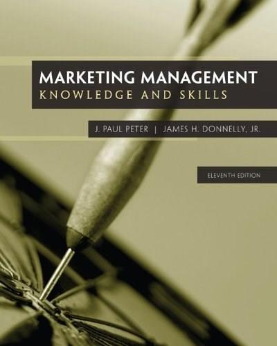 Marketing Management: Knowledge and Skills, 11th Edition 9780077861056