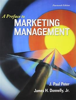 A Preface to Marketing Management 14 9780077861063