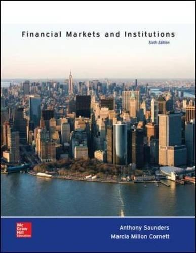 Financial Markets and Institutions (The Mcgraw-hill / Irwin Series in Finance, Insurance and Real Estate) 6 9780077861667