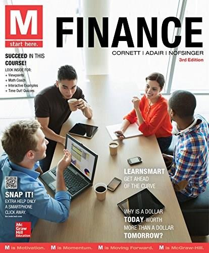 M: Finance, by Cornett, 3rd Edition 9780077861773