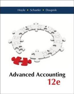 Advanced Accounting, by Hoyle, 12th Edition 9780077862220