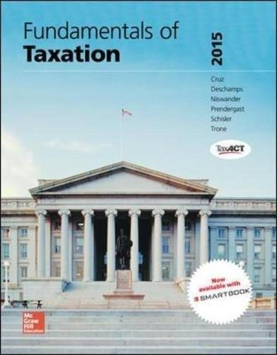 Fundamentals of Taxation 2015, by Cruz, 8th Edition 8 w/CD 9780077862305