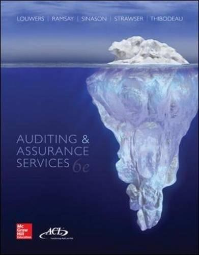 AUDITING+ASSURANCE SERVICES 6 9780077862343