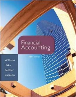 Financial Accounting, 16th Edition 9780077862381