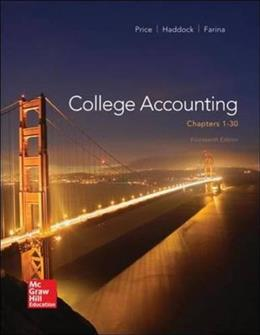 College Accounting, by Price, 14th Edition, Chapters 1-30 9780077862398