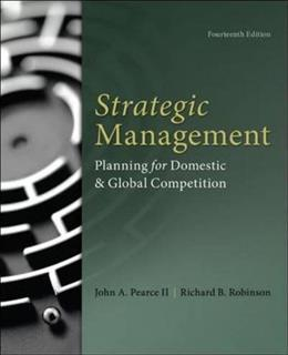 Strategic Management 14 9780077862510
