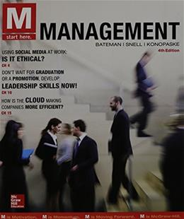 M: Management, by Bateman, 4th Edition 9780077862596