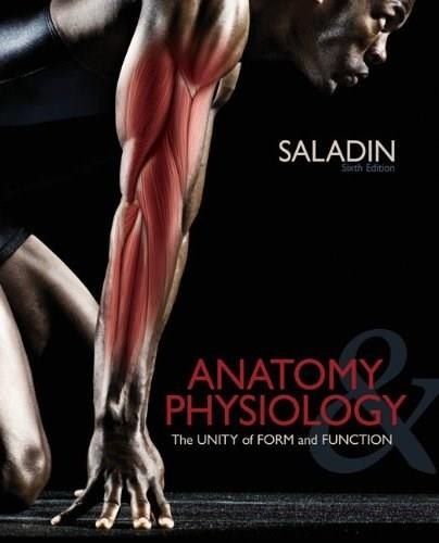 Anatomy and Physiology: The Unity of Form and Function, by Saladin, 6th Edition 6 PKG 9780077905750