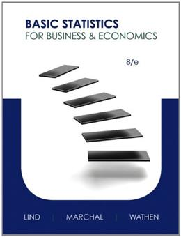 Basic Statistics for Business and Economics, by Lind, 8th Edition 8 PKG 9780077922627