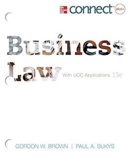 Loose-Leaf: Business Law with ConnectPlus 13 9780077924560