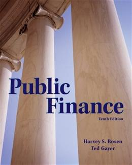 Public Finance (The McGraw-Hill Series in Economics) 10 9780078021688