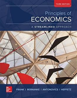 Principles of Economics, by Frank, 3rd Edition 9780078021824