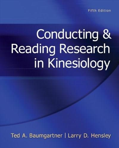 Conducting & Reading Research In Kinesiology 5 9780078022555