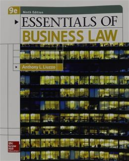 Essentials of Business Law 9 9780078023194