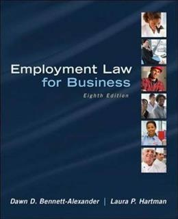 Employment Law for Business 8 9780078023798