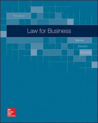 Law for Business 12 9780078023811
