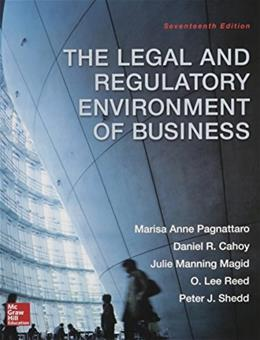 The Legal and Regulatory Environment of Business 17 9780078023859