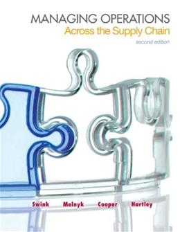 Managing Operations Across the Supply Chain (The Mcgraw-hill/Irwin Series in Operations and Decision Sciences) 2 9780078024030