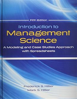 Introduction to Management Science Modeling and Case Studies Approach with Spreadsheets 5 9780078024061