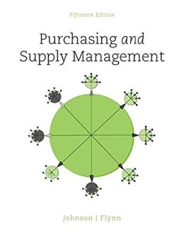 Purchasing and Supply Management (The Mcgraw-hill Series in Operations and Decision Sciences) 15 9780078024092