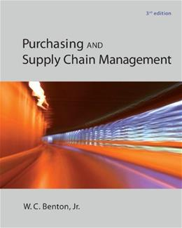 Purchasing and Supply Chain Management (The Mcgraw-hill/Irwin Series in Operations and Decision) 3 9780078024115