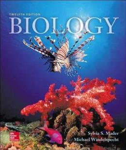 Biology, by Mader, 12th Edition 9780078024269