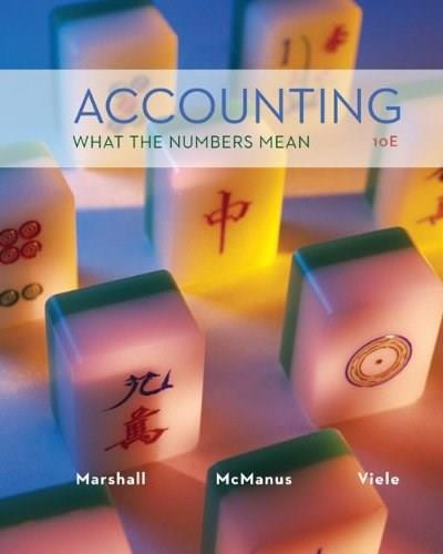 Accounting: What the Numbers Mean, by Marshall, 10th Edition 9780078025297