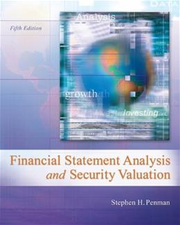 Financial Statement Analysis and Security Valuation 5 9780078025310