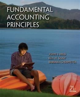 Fundamental Accounting Principles, by Wild, 21st Edition 9780078025587