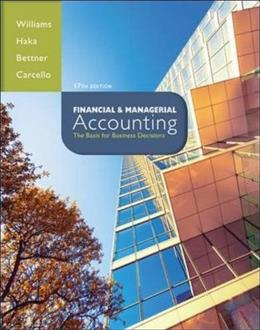 Financial & Managerial Accounting 17 9780078025778
